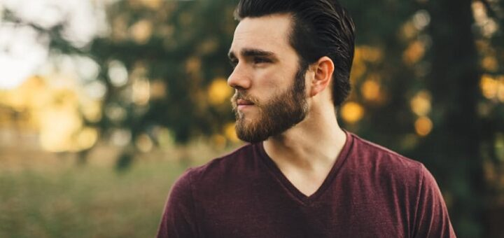 a young attractive man with a beard