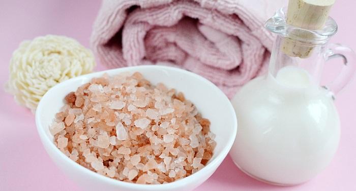 sea salt as a body scrub