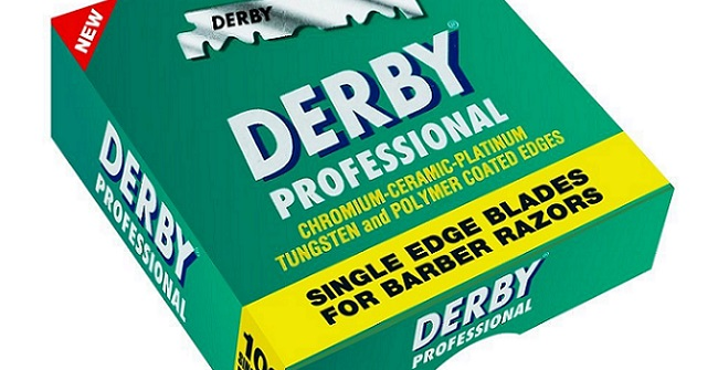 a pack of derby single edge razor blades