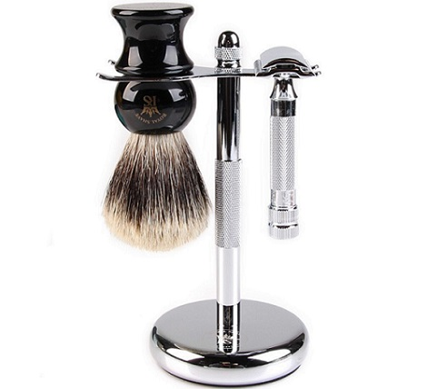 Merkur shaving tools on a white background