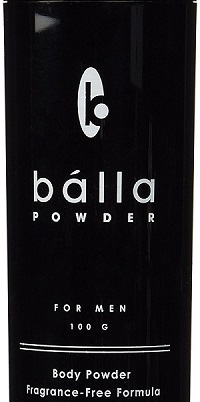 the front part of a Fragrance free Balla powder container
