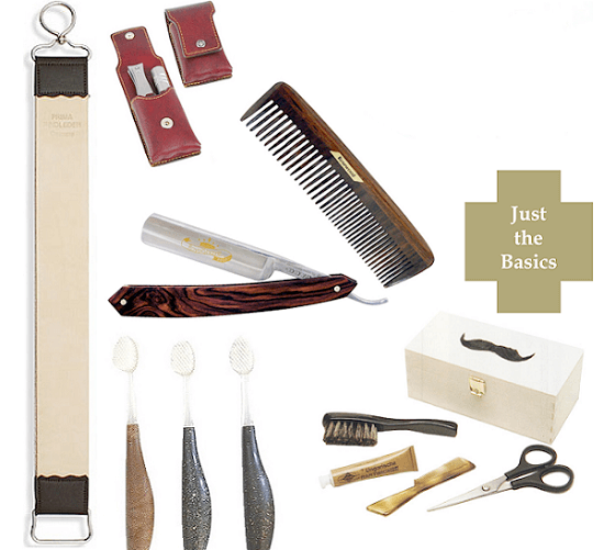 all the essential items of a grooming kit for men