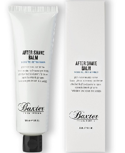 the tub and packaging of Baxter of California After Shave Balm