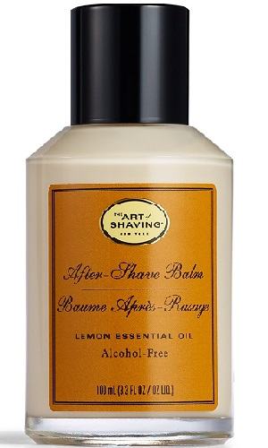 a small bottle of The Art of Shaving After-Shave Balm, Lemon