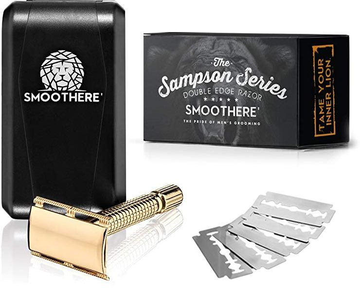 Smoothere Double-Edge Safety Razor Kit for Men