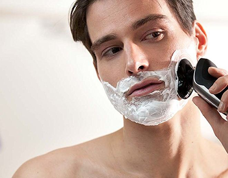 man using shave