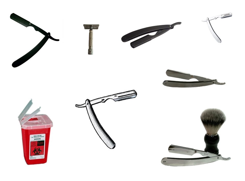collage of different razors